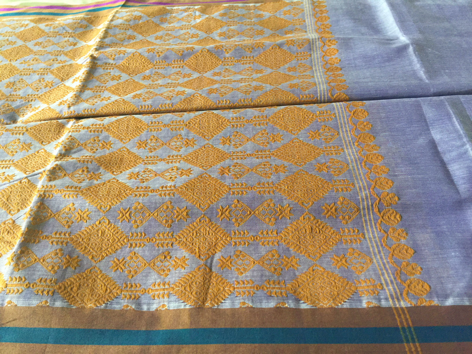 Assam Periwinkle with Gamkharu Motif