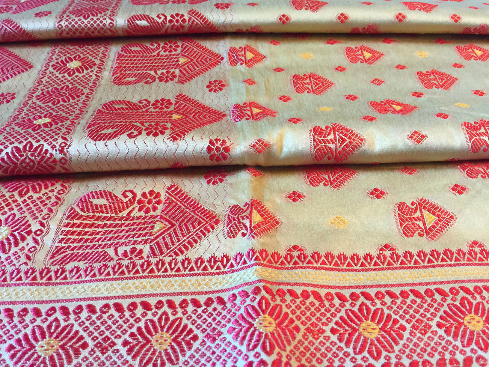 Assam Traditional Bihu Silk Saree