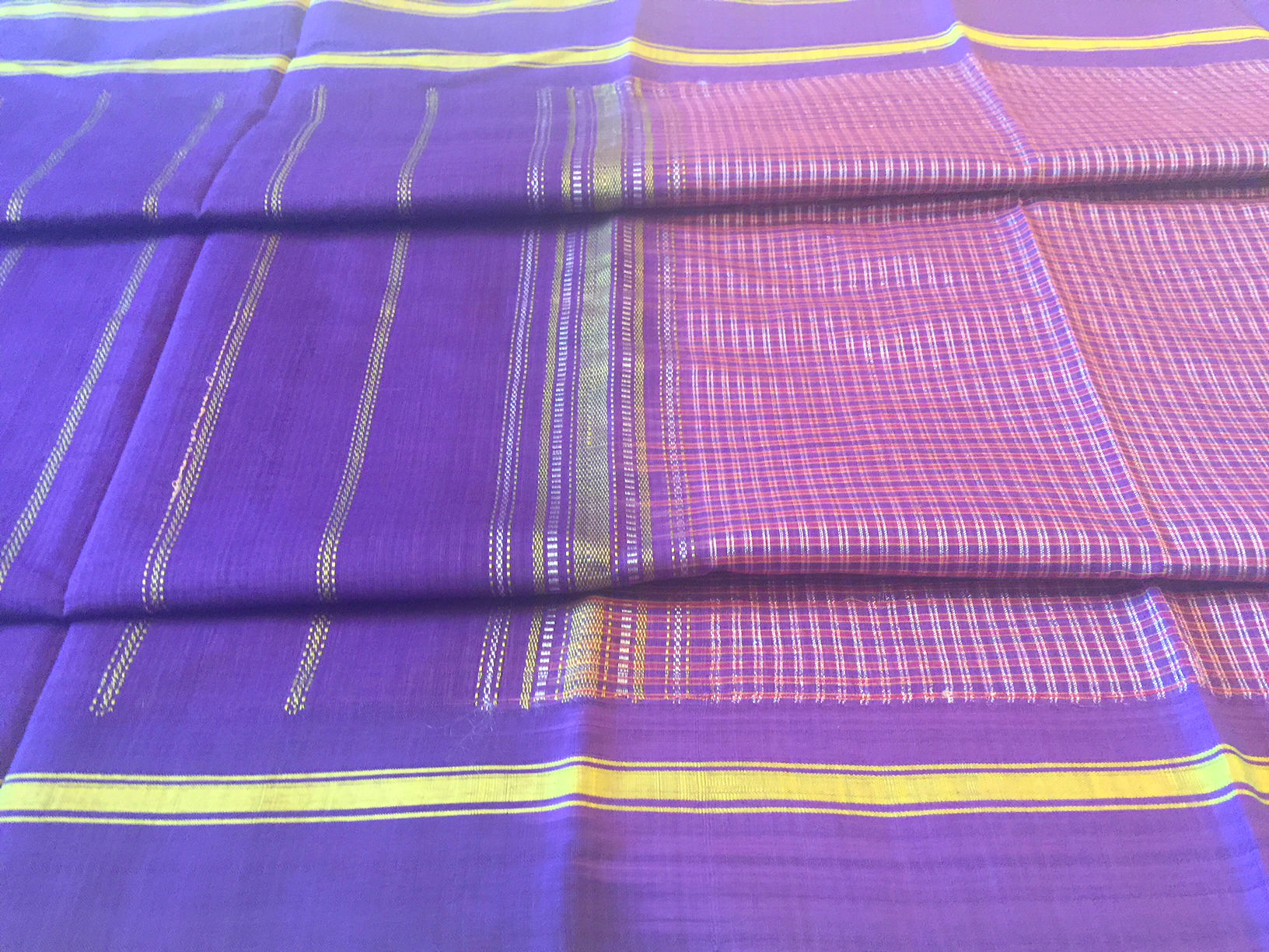 Udupi Plum with Silver Stripes