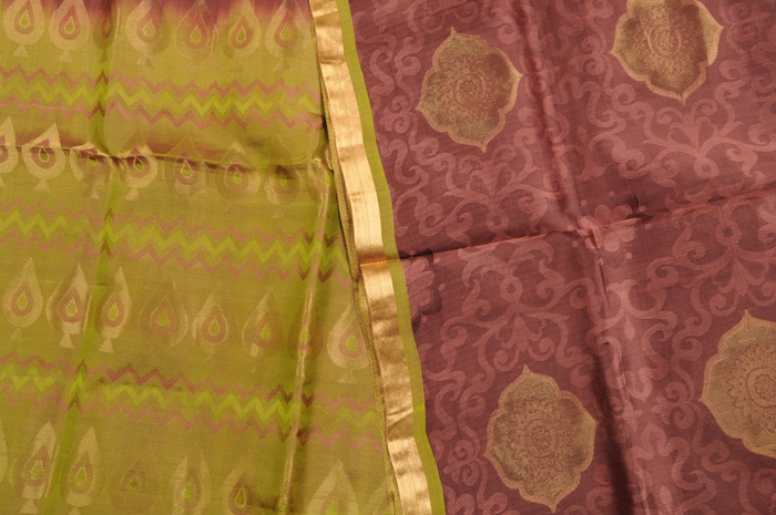 Sale! 75% Off! Bangalore Silk Merlot Mehndi