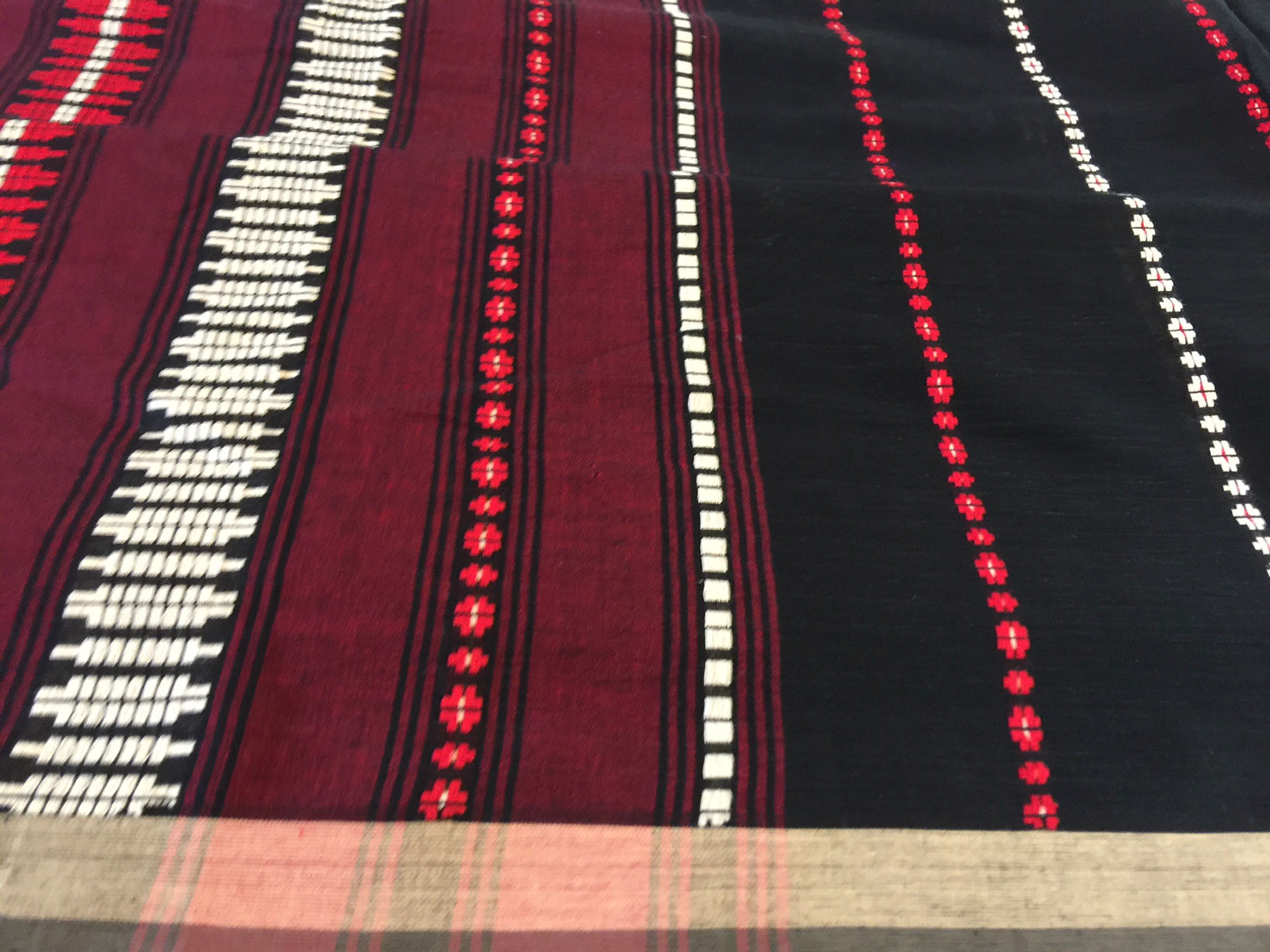 Begumpuri Black and Red Cotton