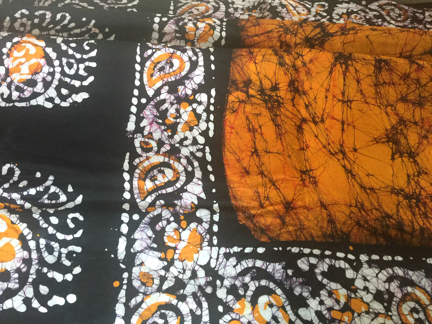 Batik Cotton Mustard and Black