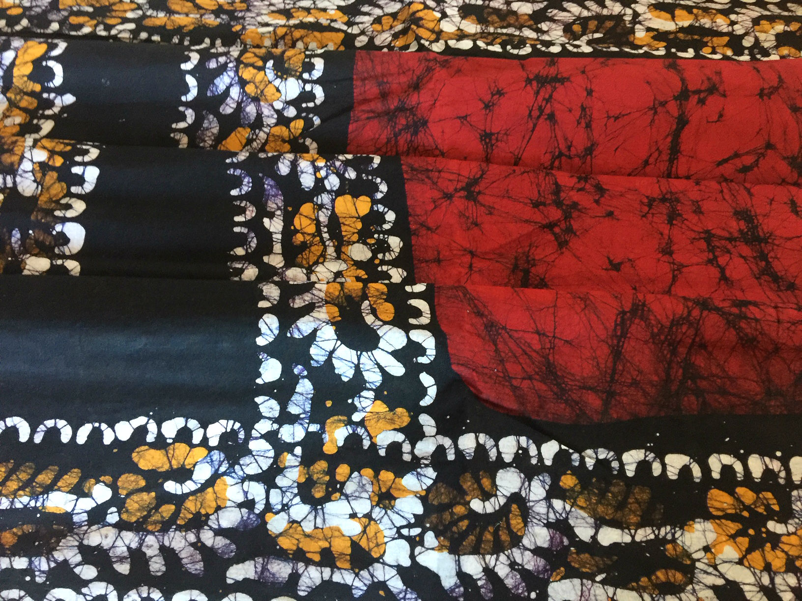 Batik Cotton Red and Yellow