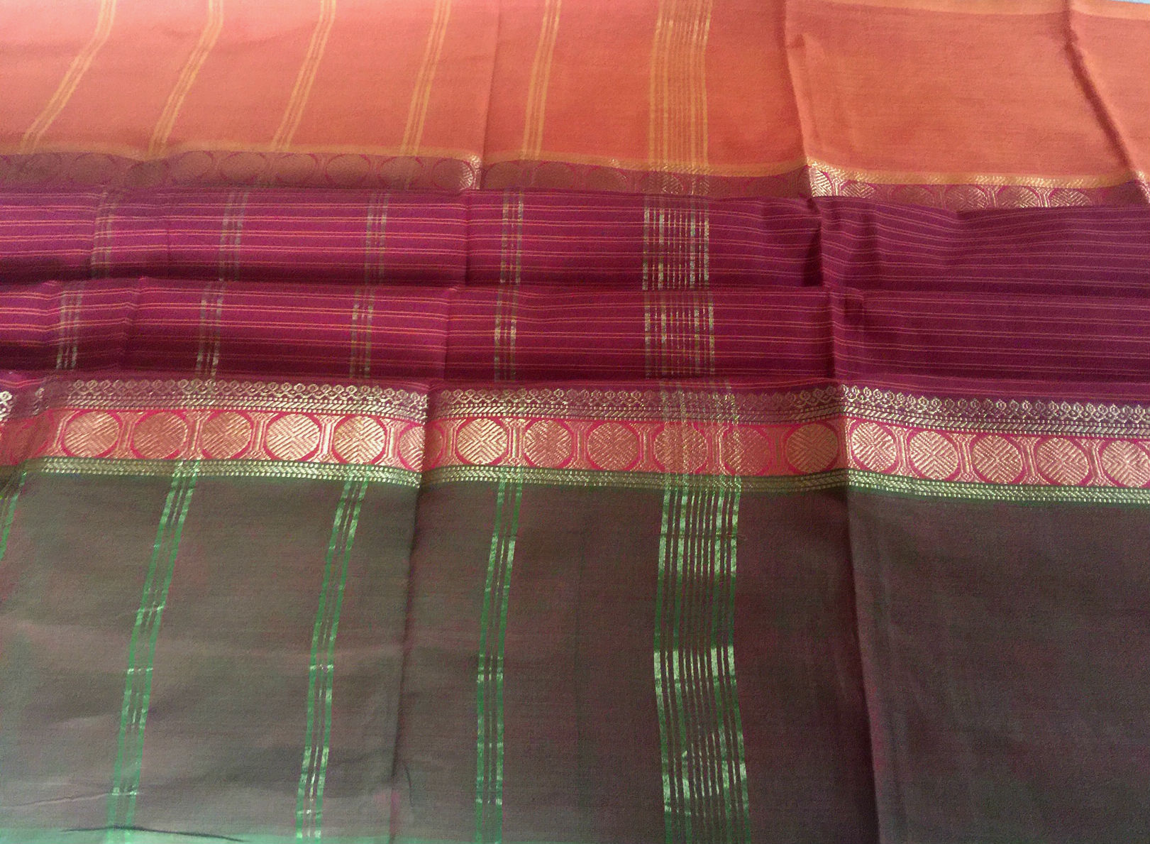 Chettinad Maroon Ganga Jamuna Cotton