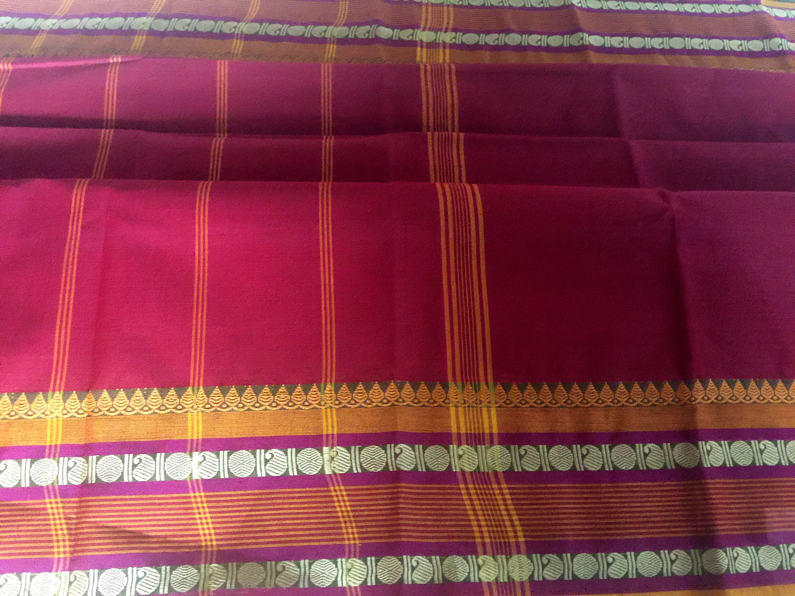Chettinad Maroon with Mustard Cotton