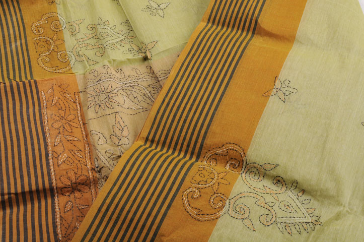 Sale! Kantha apple green turmeric