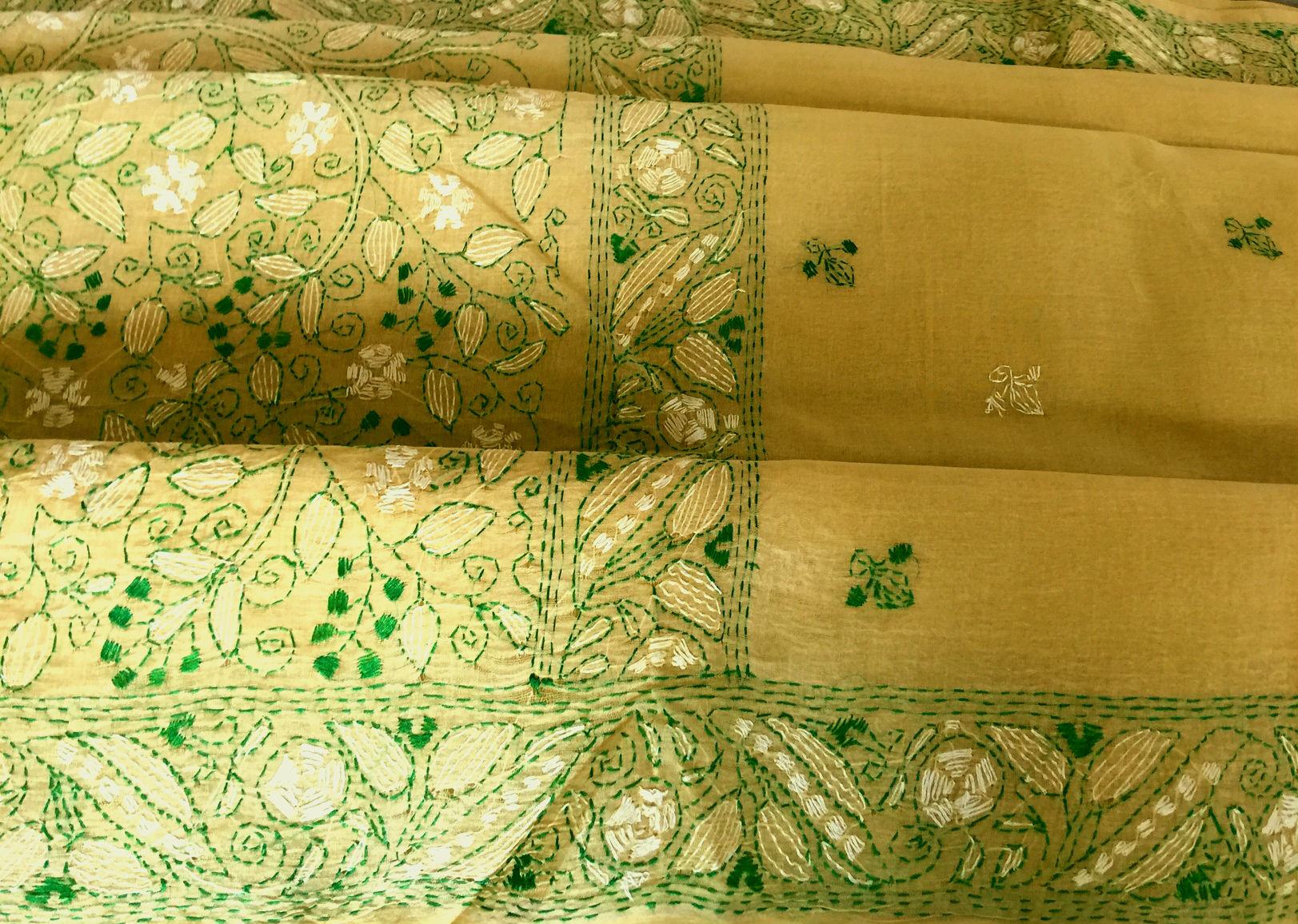 Kantha Embroidery Lemon and Lime