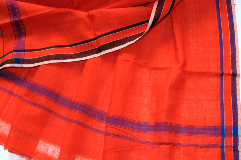 Original Khurda Gamcha Red Cobalt