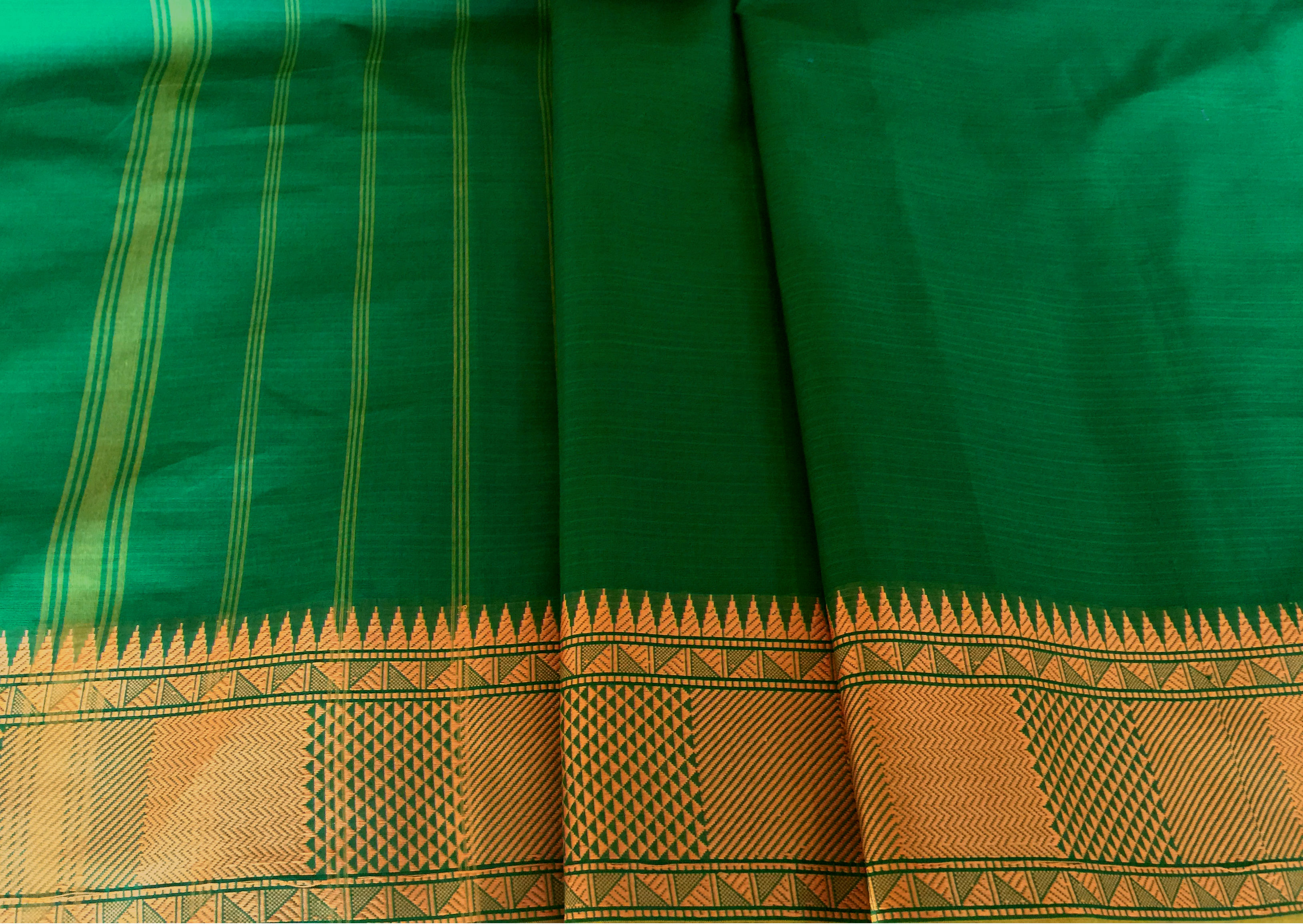 Kanchi Cotton Green Mustard