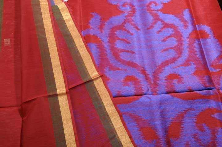Sale! 50% Off! Linen Silk blend sari