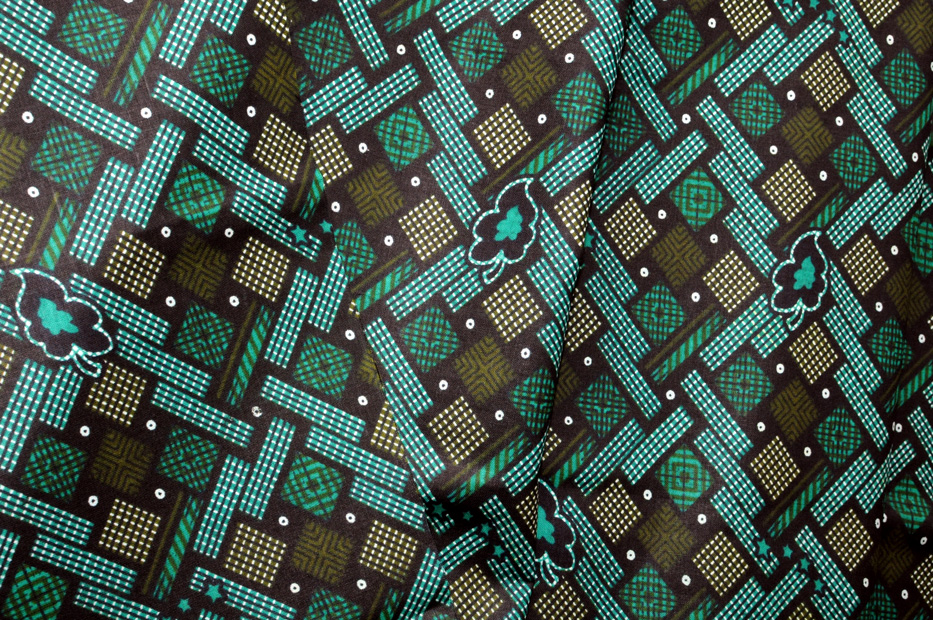 Ikon Printed Lunghi Teal and Green - Click Image to Close