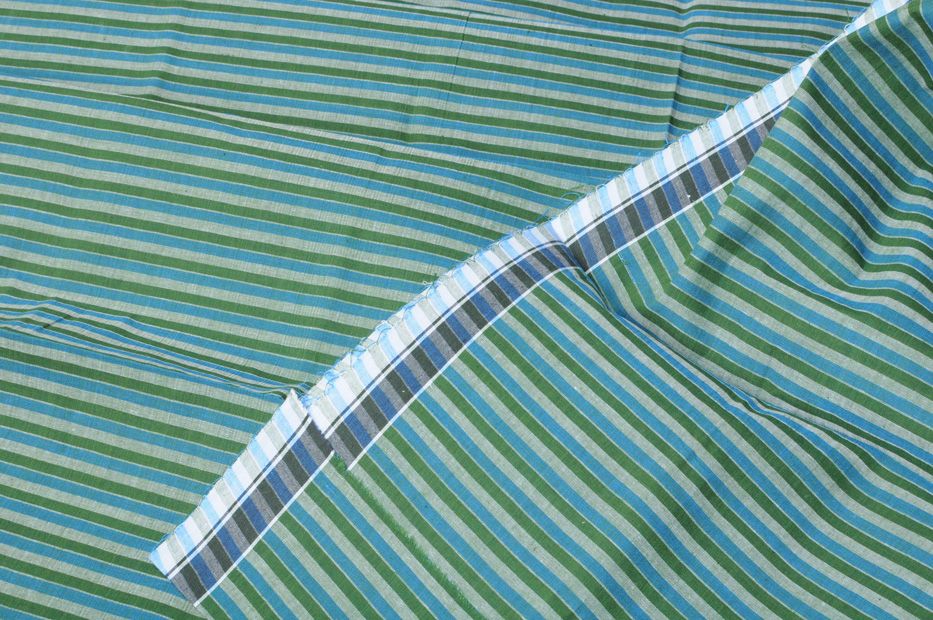 Pinstripe Lunghi Forest Blue