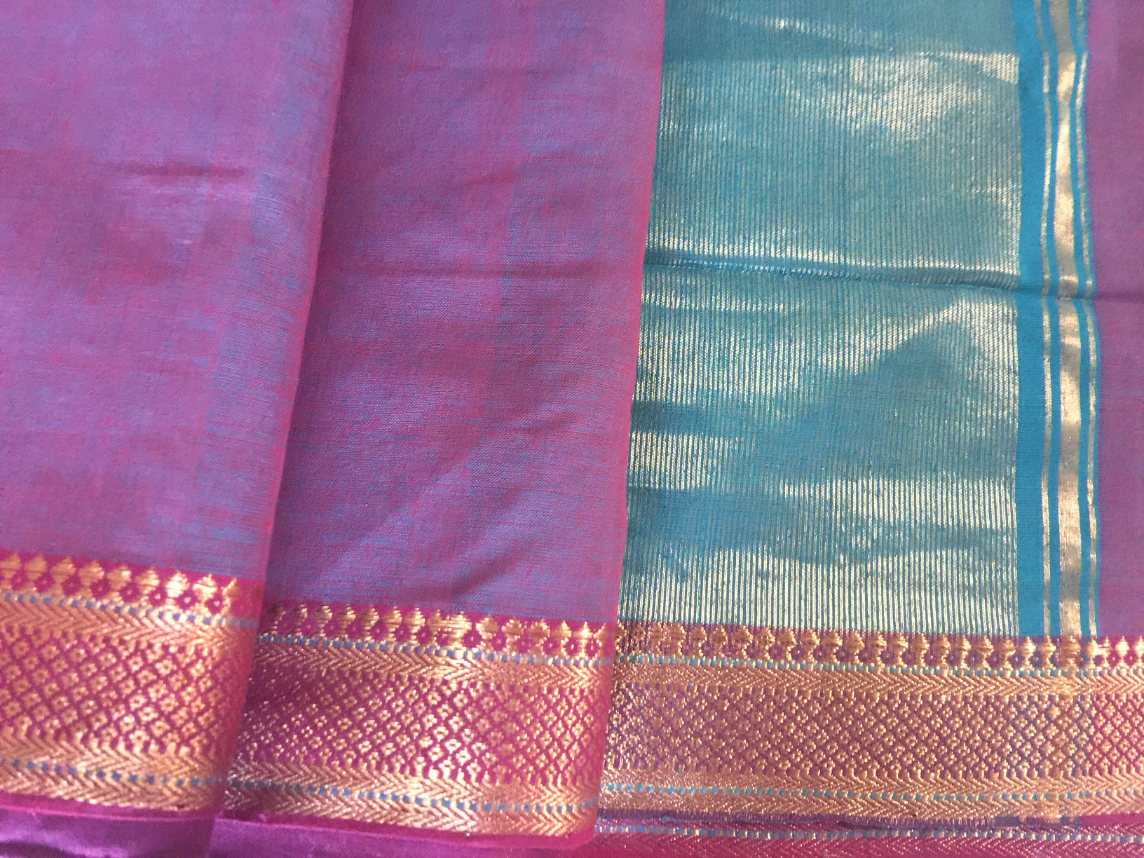 Mangalagiri Mauve and Blue Nizam Border