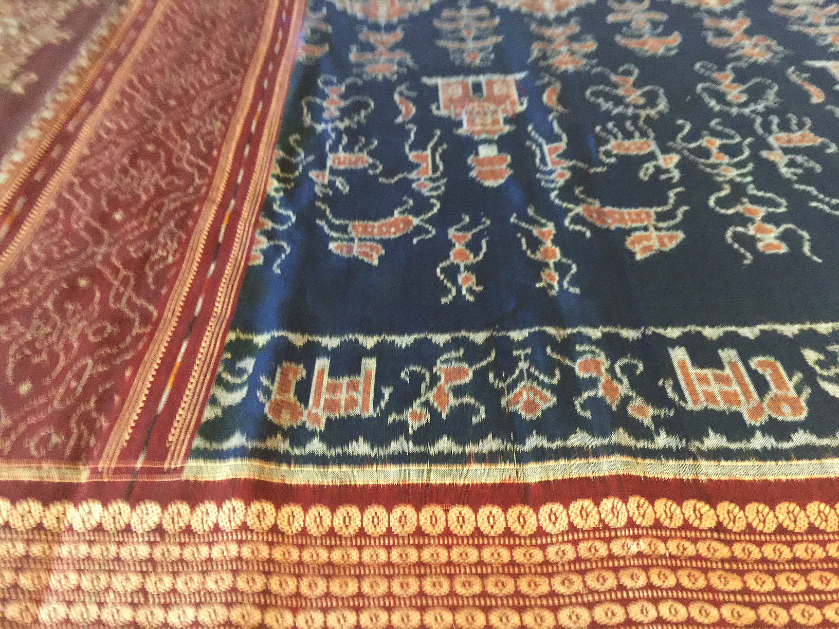 Orissa Fine Ikat in Navy