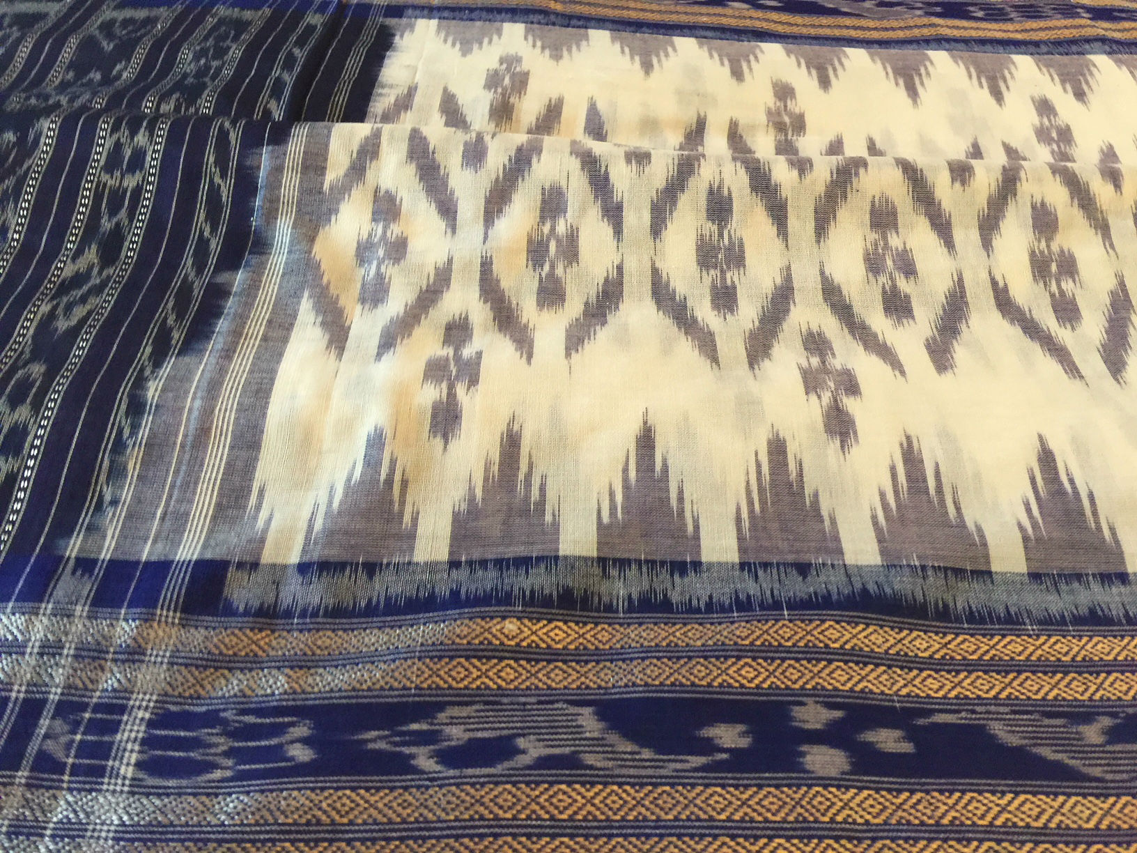 Orissa Ikat White Blue