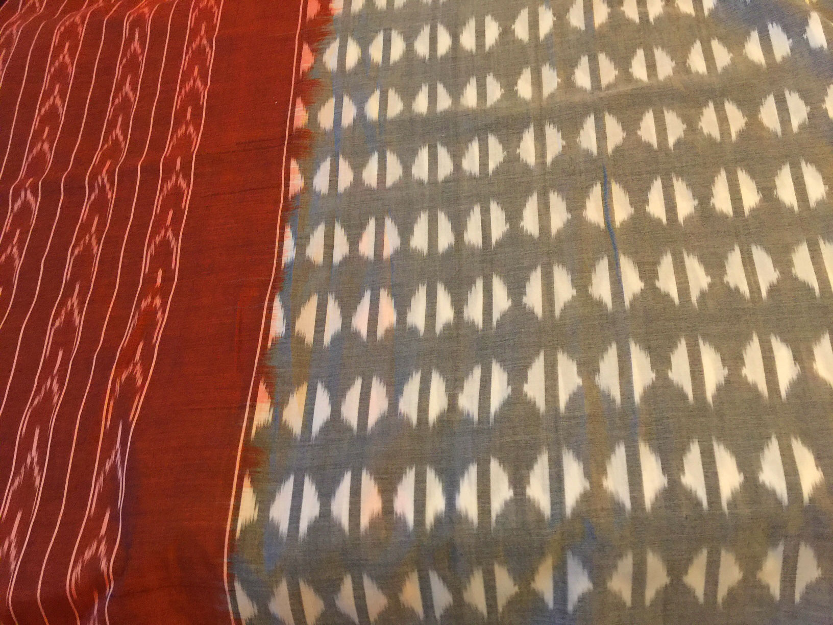 Pochampalli Grey Maroon Cotton Sari