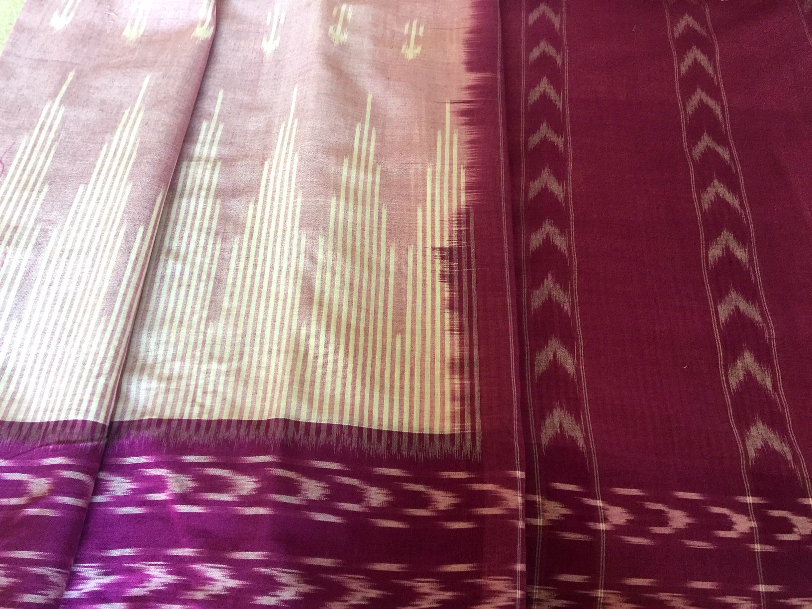 Pochampalli Pink and Majenta Cotton