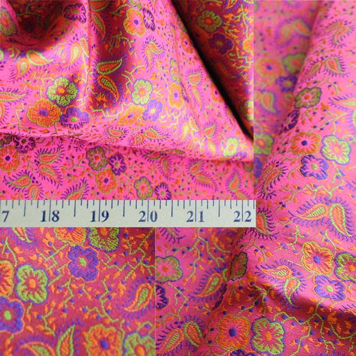 Yardage - Benaras Brocade Silk Rani Purple