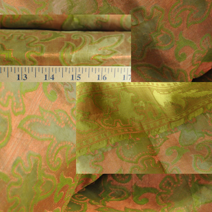 Yardage - Organdy Silk Copper Mehndi