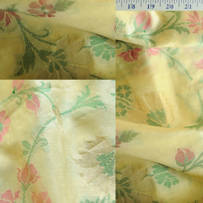 Yardage - Organdy Silk Lemon Green